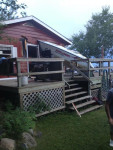 Don't try parking the boat on the rear deck of the house.