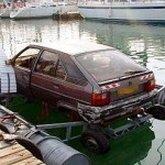 Do not use your vehicle to power a top heavy pontoon raft.