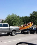 Try to avoid sudden stops when trailering.
