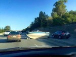 never drive your boat at right angles to traffic. On the highway.