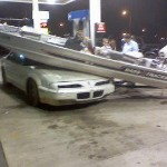 Hey, no cutting the line at the gas pumps!